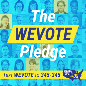 Text WEVOTE to 345-345 to take the pledge